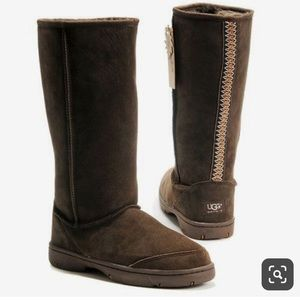 Ugg Ultimate tall braided boot in brown